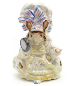 Lady Mouse - Gold Oval - Beatrix Potter Figurine