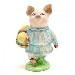 Little Pig Robinson (Plaid Pajamas) - Beswick - Beatrix Potter Figurine