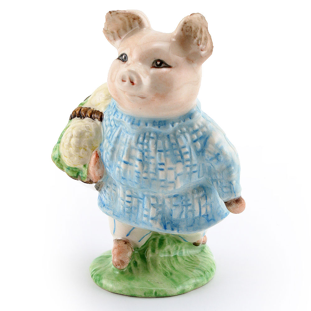 Little Pig Robinson Plaid - New Beswick - Beatrix Potter Figurine