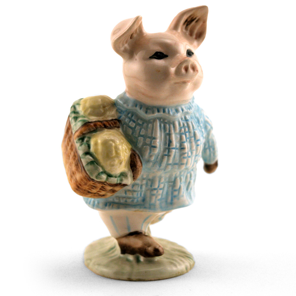 Little Pig Robinson Plaid Dress - Royal Albert - Beatrix Potter Figurine
