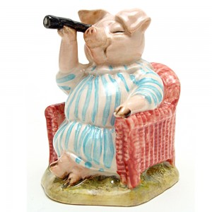 Little Pig Robinson Spying - Beswick - Beatrix Potter Figurine