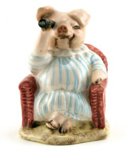 Little Pig Robinson Spying - Royal Albert - Beatrix Potter Figurine
