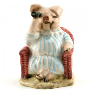 Little Pig Robinson Spying - Royal Albert - Beatrix Potter Figurine