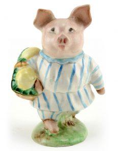 Little Pig Robinson (Striped Pajamas) - Gold Circle - Beatrix Potter Figurine