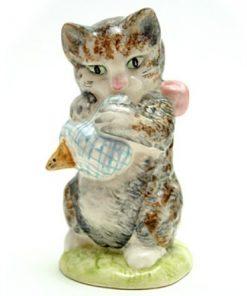 Miss Moppet (Mottled) - Gold Oval - Beatrix Potter Figurine