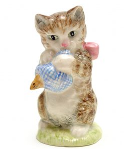 Miss Moppet (Striped) - Gold Oval - Beatrix Potter Figurine