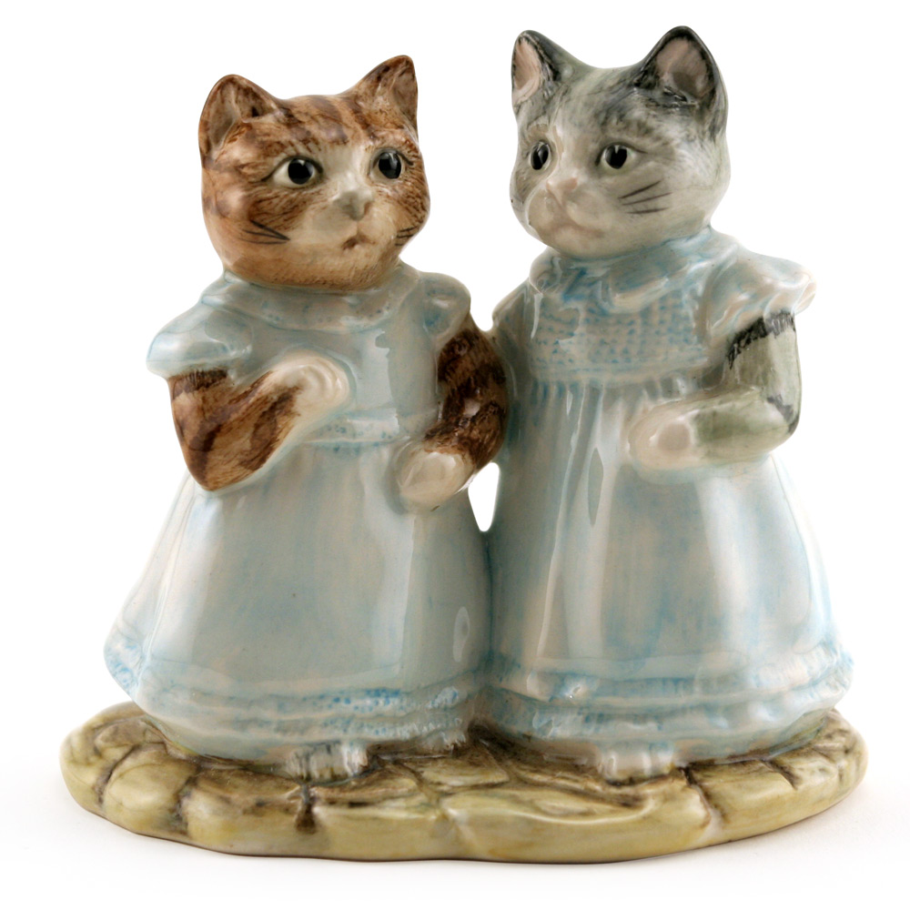Mittens and Moppet - Royal Albert - Beatrix Potter Figurine