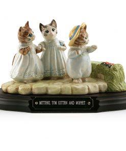 Mittens - Tom Kitten - and Moppet (Tableau) - Beatrix Potter Figurine