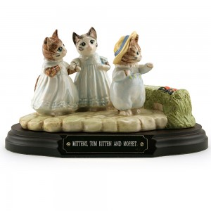 Mittens - Tom Kitten - and Moppet (Tableau) - Beatrix Potter Figurine
