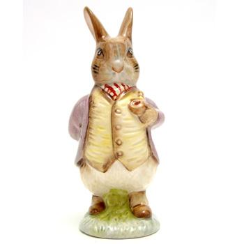 Mr. Benjamin Bunny (Pipe In - Lilac Jacket) - New Beswick - Beatrix Potter Figurine