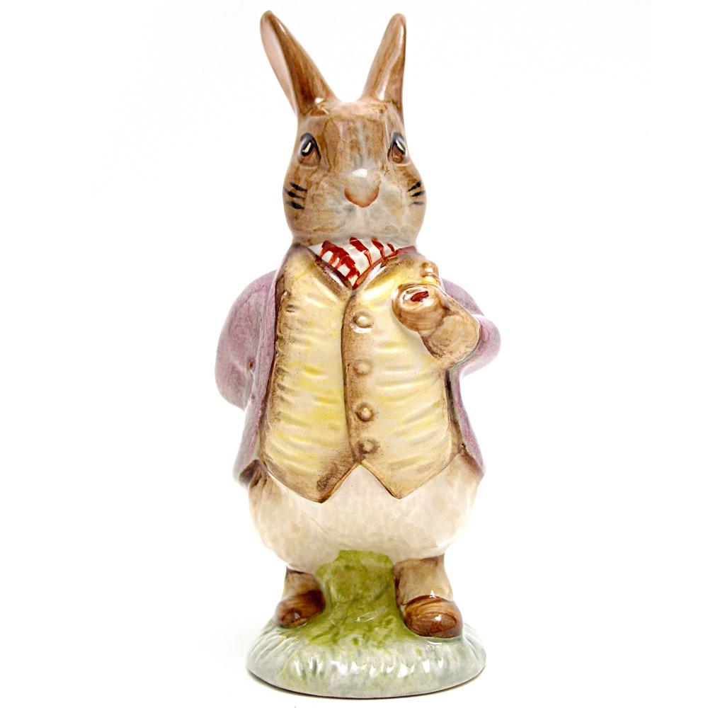 Mr. Benjamin Bunny (Pipe In - Lilac Jacket) - Royal Albert - Beatrix Potter Figurine