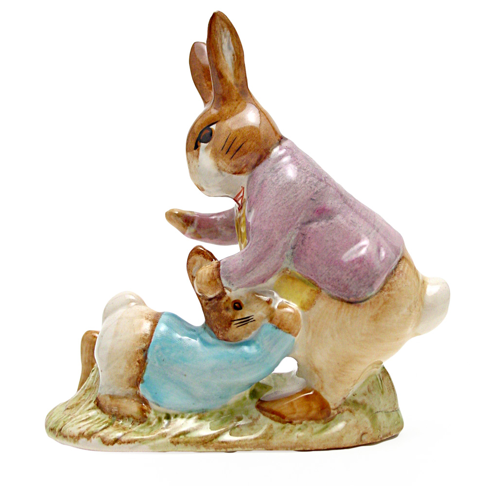 Mr. Benjamin Bunny and Peter Rabbit - Beswick - Beatrix Potter Figurine
