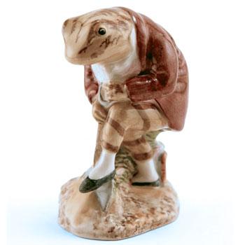 Mr. Jeremy Fisher Digging - Royal Albert - Beatrix Potter Figurine