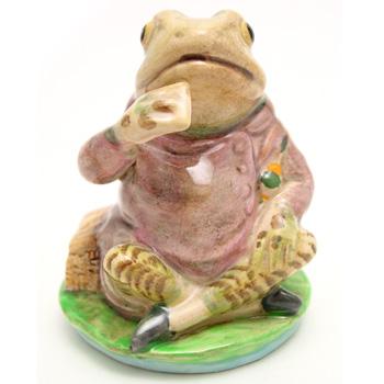 Mr. Jeremy Fisher (Striped Legs) - Beswick - Beatrix Potter Figurine