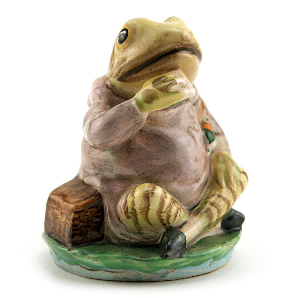 Mr. Jeremy Fisher (Striped) - Royal Albert - Beatrix Potter Figurine