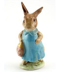 Mrs. Flopsy Bunny - Gold Oval - Beatrix Potter Figurine