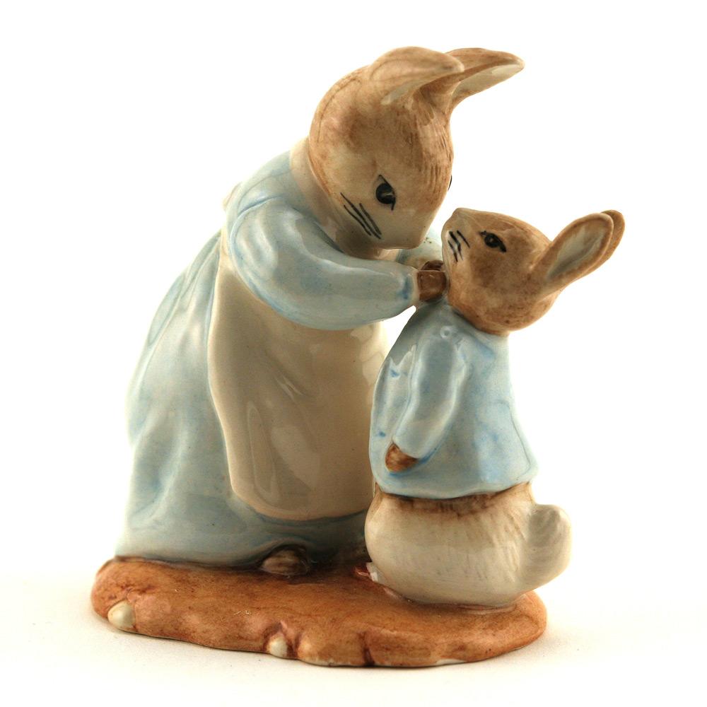 Mrs. Rabbit and Peter - Royal Albert - Beatrix Potter Figurine