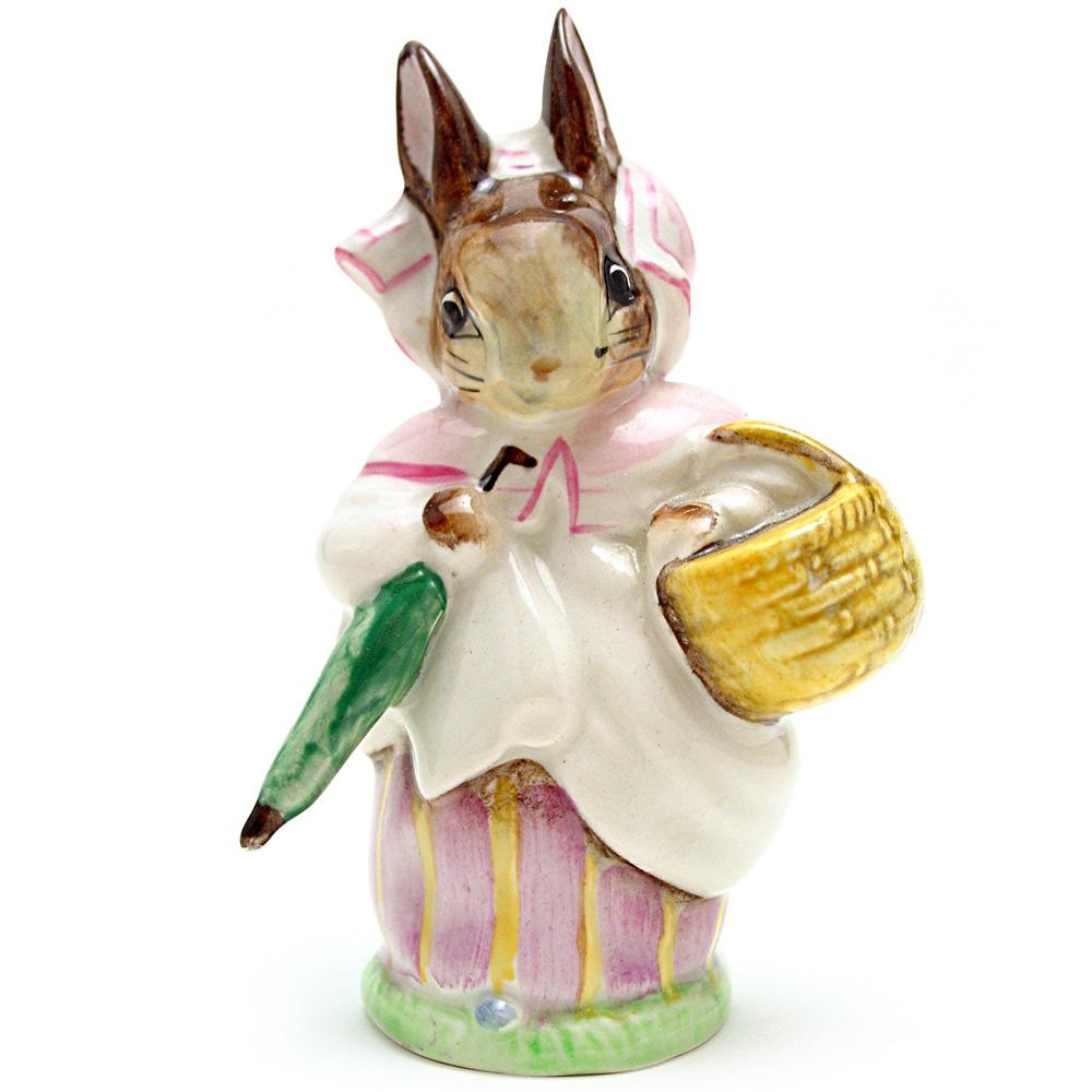 Mrs. Rabbit (Umbrella Out) - Beswick - Beatrix Potter Figurine