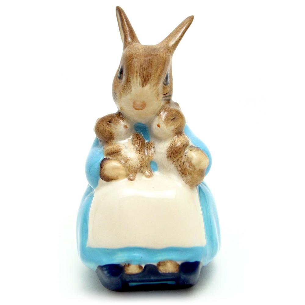 Mrs. Rabbit and Bunnies - Royal Albert - Beatrix Potter Figurine