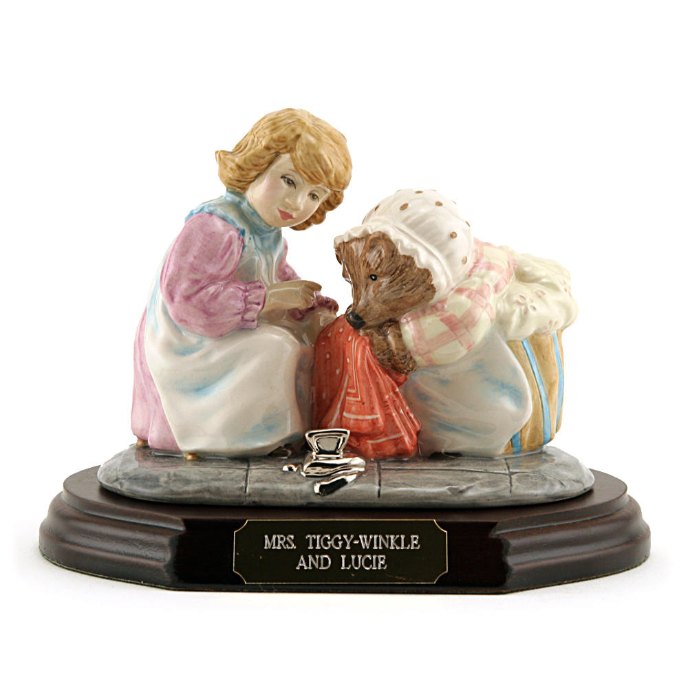 Mrs. Tiggy Winkle and Lucie (Tableau) - Beatrix Potter Figurine