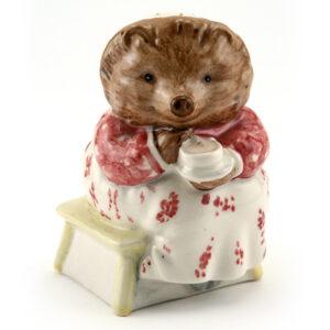 Mrs. Tiggy Winkle Takes Tea - Royal Albert - Beatrix Potter Figurine
