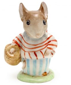 Mrs. Tittlemouse - Gold Oval - Beatrix Potter Figurine