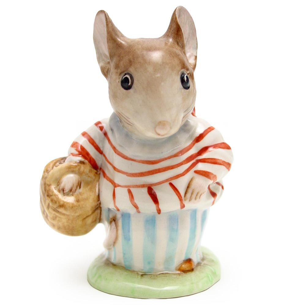Mrs. Tittlemouse - Gold Oval - Beatrix Potter Figurine