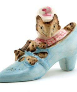 The Old Woman Who Lived in a Shoe - Royal Albert - Beatrix Potter Figurine
