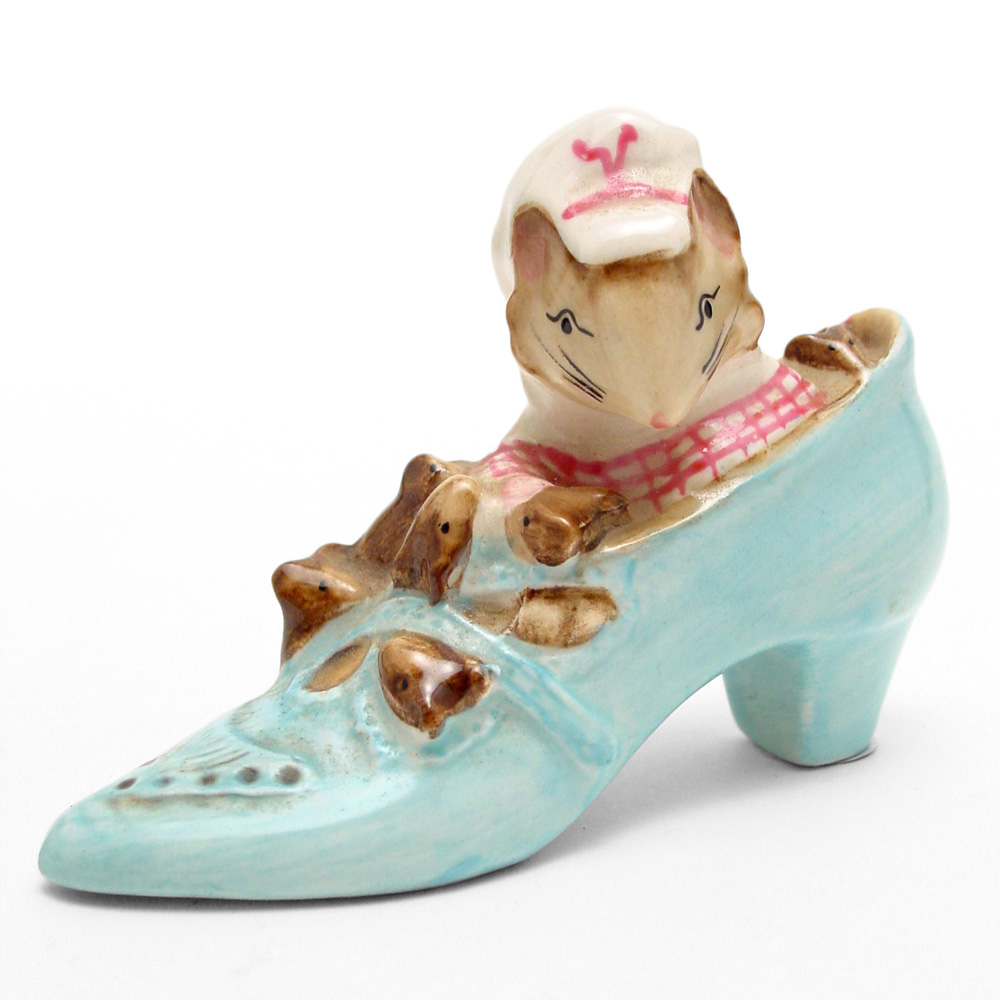 The Old Woman Who Lived In A Shoe - Beswick - Beatrix Potter Figurine