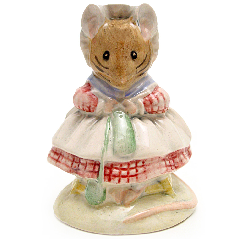 The Old Woman Who Lived In A Shoe (Knitting) - Beswick - Beatrix Potter Figurine
