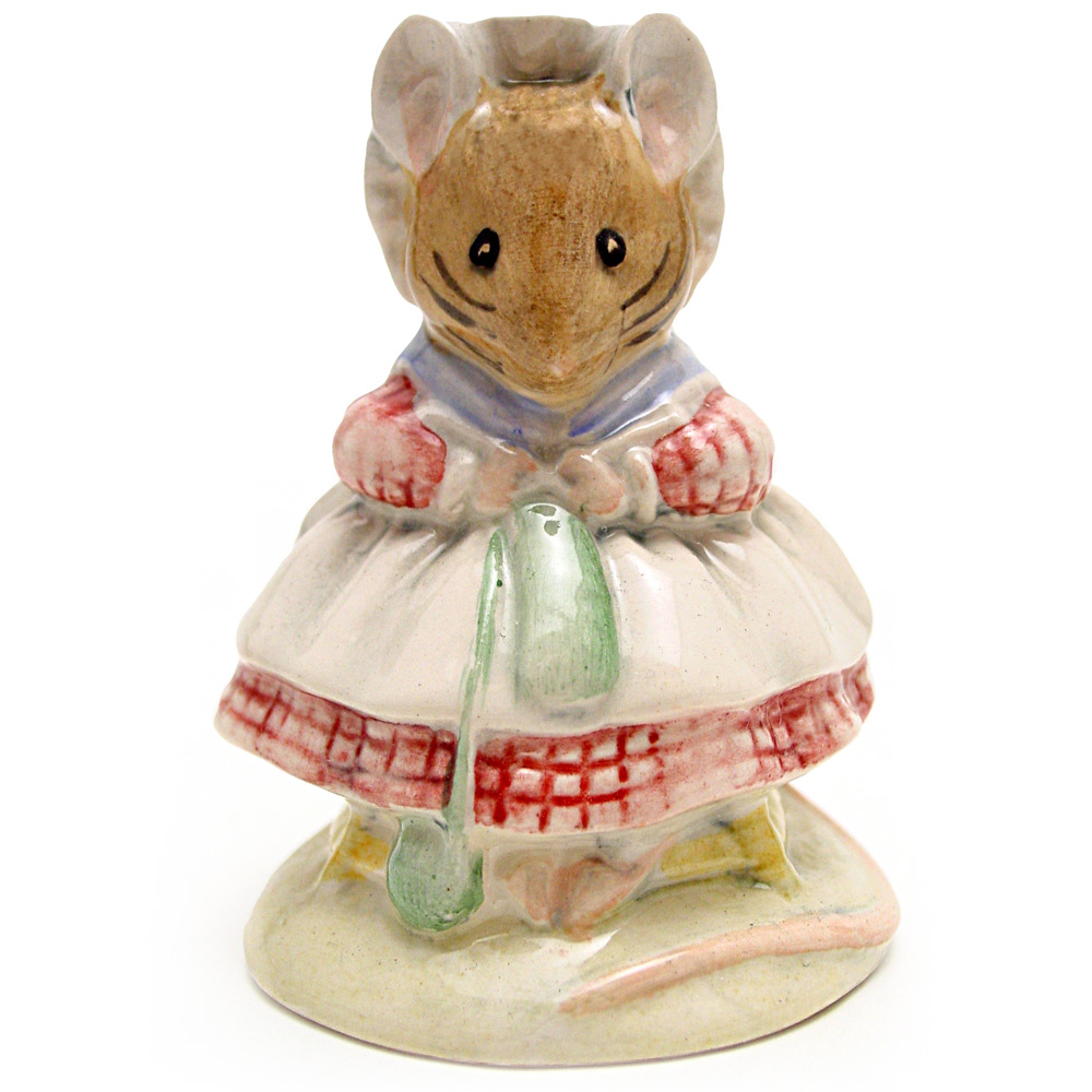 The Old Woman Who Lived In A Shoe (Knitting) - Royal Albert - Beatrix Potter Figurine