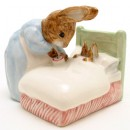 Peter in Bed - Royal Albert - Beatrix Potter Figurine