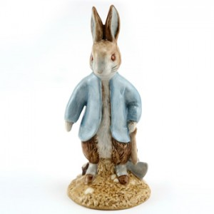Peter Rabbit Digging - New Beswick - Beatrix Potter Figurine