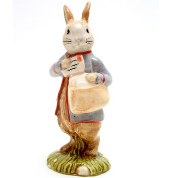 Peter (with Postbag) - New Beswick - Beatrix Potter Figurine