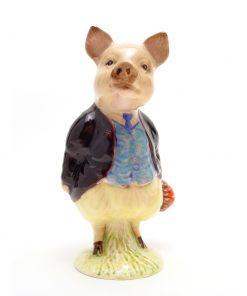 Pigling Bland (Maroon Jacket) - Beswick - Beatrix Potter Figurine