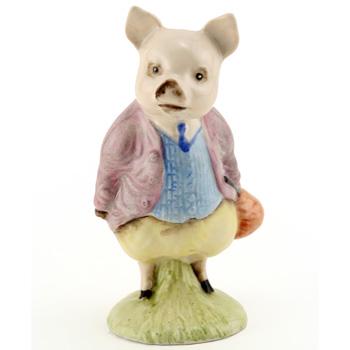 Pigling Bland (Lilac Jacket) - New Beswick - Beatrix Potter Figurine