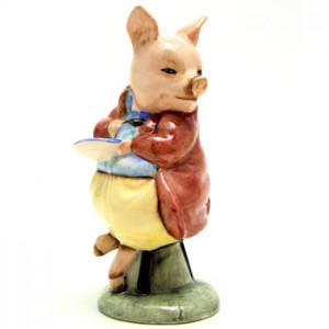 Pigling Eats Porridge - Royal Albert - Beatrix Potter Figurine