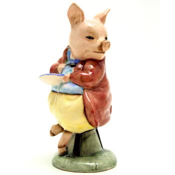 Pigling Eats Porridge - Royal Albert - Beatrix Potter Figurine