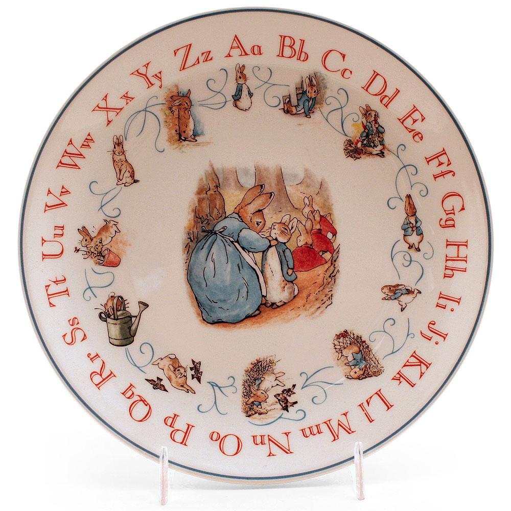 "Wedgwood Plate (8"" Diameter) - Beatrix Potter Figurine"