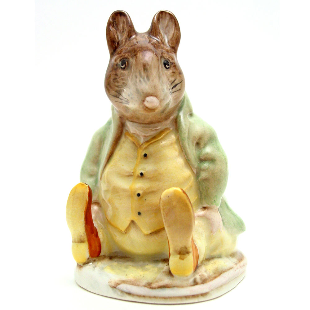 Samuel Whiskers - Gold Oval - Beatrix Potter Figurine