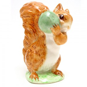Squirrel Nutkin (With Green Apple) - Beswick - Beatrix Potter Figurine