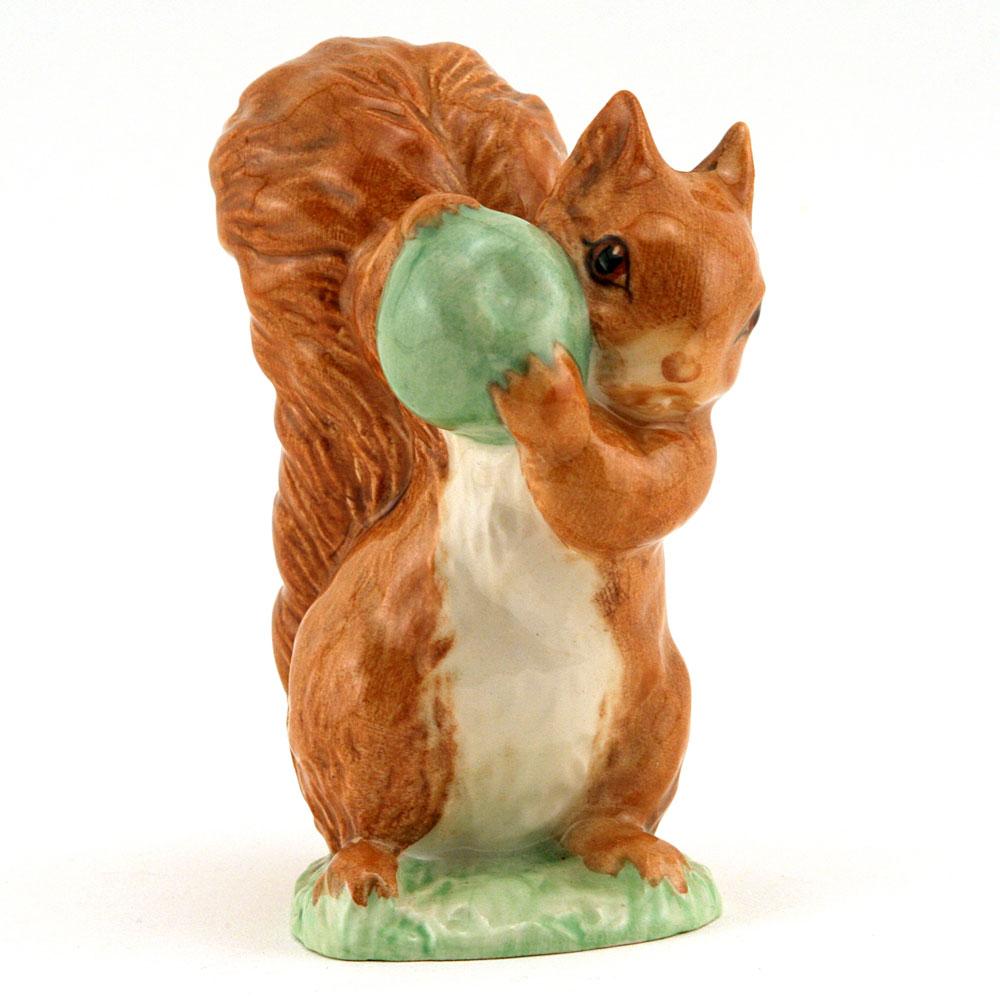 Squirrel Nutkin (With green apple) - Royal Albert - Beatrix Potter Figurine