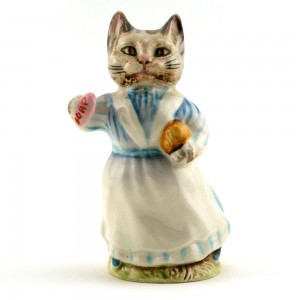 Tabitha Twitchit (with Striped Top) - Beswick - Beatrix Potter Figurine