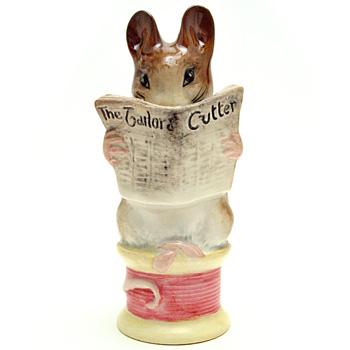 Tailor of Gloucester - Gold Oval - Beatrix Potter Figurine