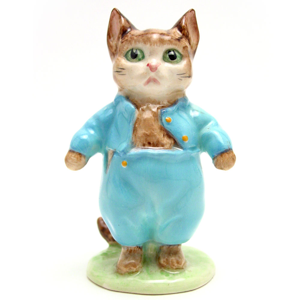 Tom Kitten - Gold Oval - Beatrix Potter Figurine