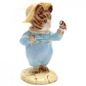 Tom Kitten and Butterfly - Beswick - Beatrix Potter Figurine