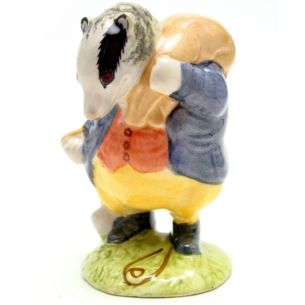 Tommy Brock (Handle In - Large Eye Patch) - Beswick - Beatrix Potter Figurine