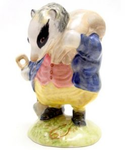 Tommy Brock (Handle Out - Small Eye Patch) - Gold Oval - Beatrix Potter Figurine