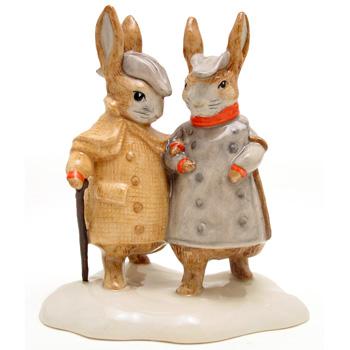 Two Gentleman Rabbits - Beatrix Potter Figurine