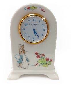 Beatrix Potter Small Clock - Wedgwood - Beatrix Potter Figurine